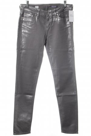 Tommy Hilfiger Skinny Jeans grau-silberfarben Farbtupfermuster Glanz-Optik