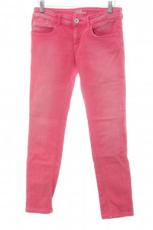 Tommy Hilfiger Skinny Jeans himbeerrot-weiß Casual-Look
