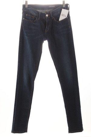 Tommy Hilfiger Skinny Jeans stahlblau-dunkelblau Punktemuster
