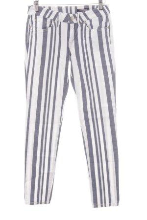 Tommy Hilfiger Skinny Jeans weiß-graublau Streifenmuster Casual-Look