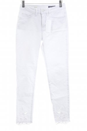 Tommy Hilfiger Skinny Jeans weiß Logo-Applikation aus Leder