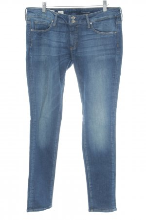 Tommy Hilfiger Slim Jeans blau Washed-Optik