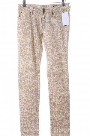 Tommy Hilfiger Slim Jeans creme-beige Punktemuster Casual-Look