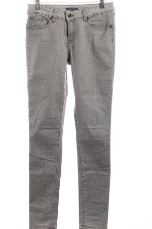 Tommy Hilfiger Slim Jeans hellgrau-goldfarben Punktemuster Casual-Look