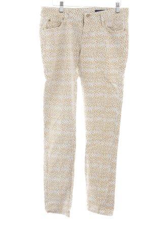 Tommy Hilfiger Jeans slim blanc-chameau motif de tache style décontracté