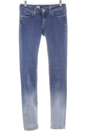 Tommy Hilfiger Slim Jeans wollweiß-stahlblau Farbverlauf Casual-Look