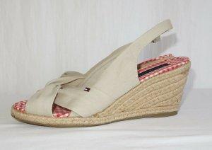 Tommy Hilfiger Espadrille sandalen beige