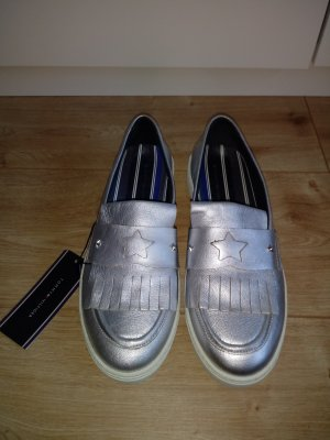 Tommy Hilfiger Slippers white-silver-colored leather