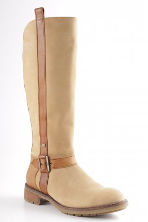 Tommy Hilfiger Slouch Stiefel braun-nude Country-Look