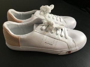 Tommy Hilfiger Sneaker weiß-rosa Casual-Look NEU