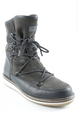 Tommy Hilfiger Snow Boots dark brown material mix look