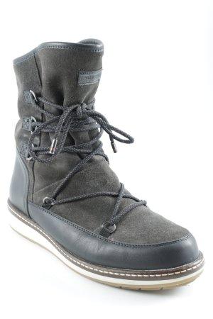 Tommy Hilfiger Snowboots dunkelbraun Materialmix-Look