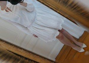 Tommy Hilfiger Sommer Kleid Gr 36 38 Neu Weiß Langarm Baumwolle