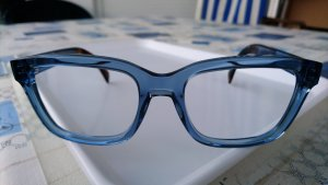 Tommy Hilfiger Lunettes de soleil angulaires bleu azur matériel synthétique