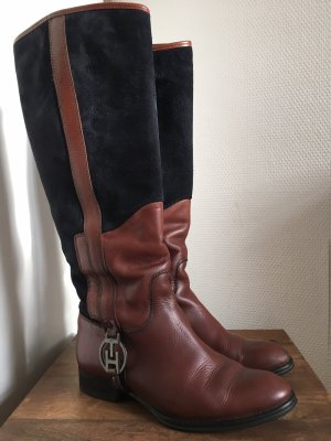 Tommy Hilfiger Riding Boots brown-dark blue