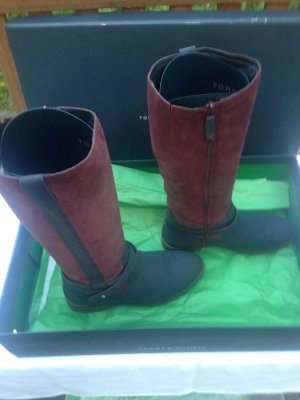 Tommy Hilfiger Stiefel Gr. 38 Bordeaux/Navy