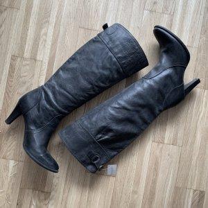 Tommy Hilfiger Laarzen met hoge hakken zwart Leer
