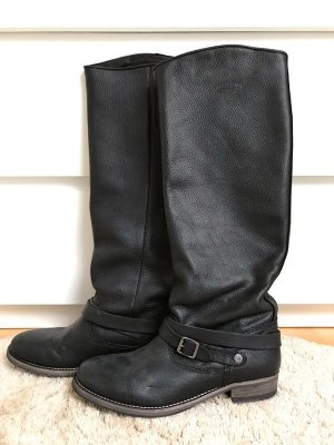 Tommy Hilfiger Winter Boots black-silver-colored leather