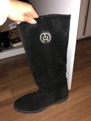 Tommy hilfiger Stiefel schwarz Leder