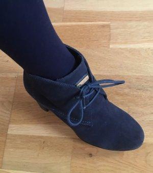 Tommy Hilfiger Patucos con cordones azul oscuro