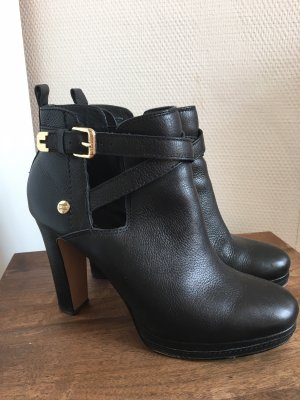 Tommy Hilfiger Cut out boots zwart-goud