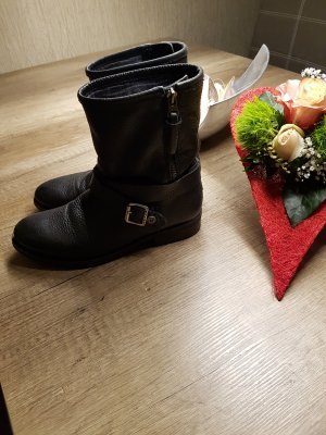Tommy Hilfiger Zipper Booties black leather