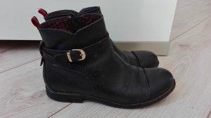 Tommy Hilfiger Stiefeletten schwarz Echtleder Gr 36 chelsea boots