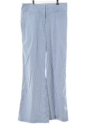 Tommy Hilfiger Stoffhose weiß-blau Streifenmuster Casual-Look