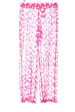 Tommy Hilfiger Stoffhose magenta-weiß abstraktes Muster 80ies-Stil