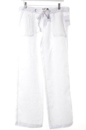 Tommy Hilfiger Pantalon en jersey blanc style marin