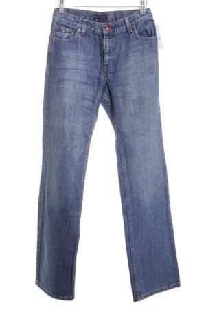 Tommy Hilfiger Straight-Leg Jeans blau-wollweiß Washed-Optik