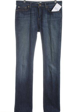 Tommy Hilfiger Straight-Leg Jeans dunkelblau-beige Street-Fashion-Look