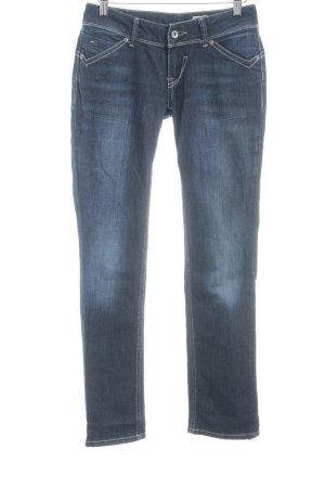 Tommy Hilfiger Straight-Leg Jeans dunkelblau Bleached-Optik