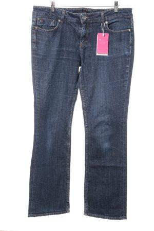 Tommy Hilfiger Jeans met rechte pijpen donkerblauw casual uitstraling