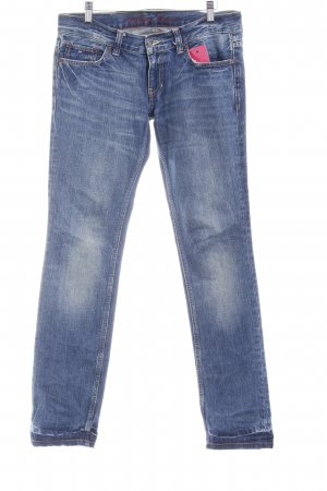 Tommy Hilfiger Jeans a gamba dritta blu scuro-bianco sporco stile casual