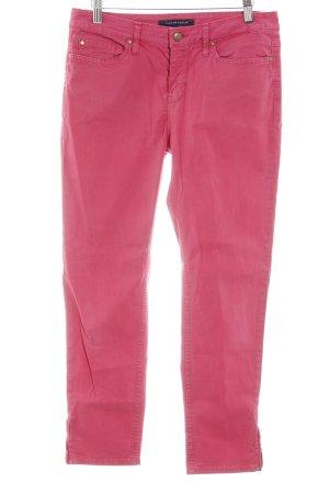 Tommy Hilfiger Straight-Leg Jeans himbeerrot Used-Optik