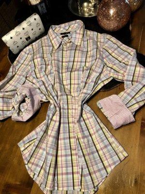 Tommy Hilfiger Stretch gr. 42 Bluse Sommer Shirt Pastell Karo