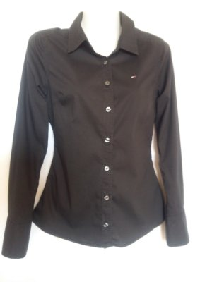 Tommy Hilfiger Stretch-Hemd/Bluse Gr. S schwarz