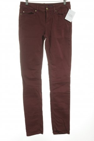 Tommy Hilfiger Stretchhose karminrot Casual-Look