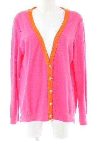 Tommy Hilfiger Strick Cardigan pink-hellorange Casual-Look