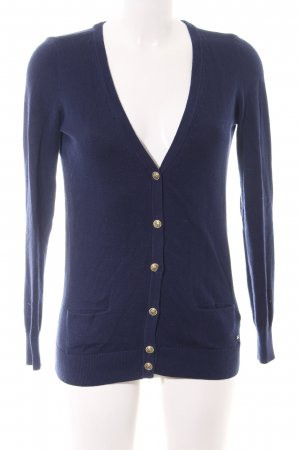 Tommy Hilfiger Strick Cardigan blau Casual-Look