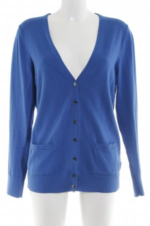 Tommy Hilfiger Strick Cardigan neonblau Casual-Look