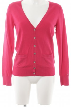 Tommy Hilfiger Strick Cardigan magenta Casual-Look