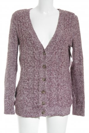 Tommy Hilfiger Strick Cardigan weiß-lila meliert Casual-Look