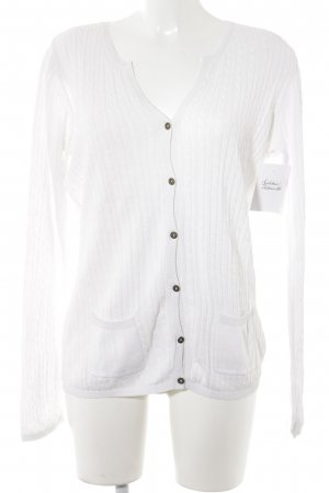 Tommy Hilfiger Knitted Cardigan white cable stitch casual look