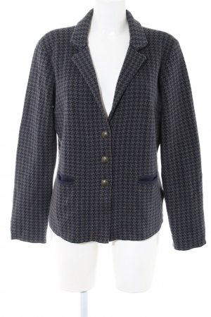 Tommy Hilfiger Strickblazer blau-hellgrau Allover-Druck Business-Look