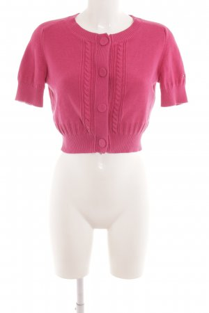 Tommy Hilfiger Strickbolero pink Zopfmuster Casual-Look