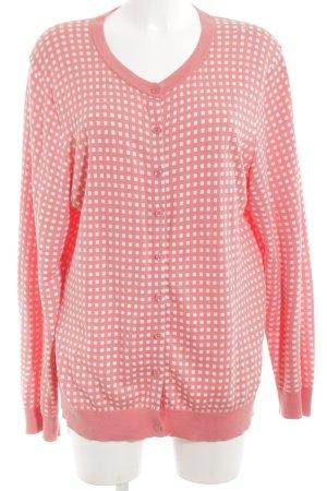 Tommy Hilfiger Strickjacke pink-weiß Karomuster klassischer Stil