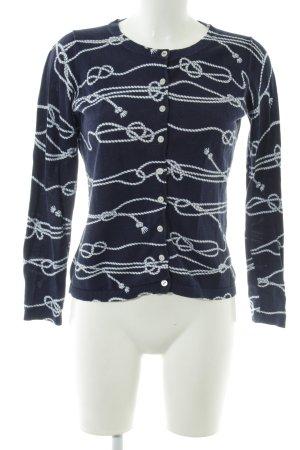 Tommy Hilfiger Strickjacke blau-weiß abstraktes Muster Casual-Look