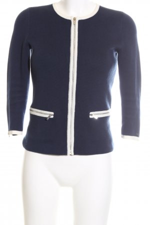Tommy Hilfiger Strickjacke blau-weiß Business-Look